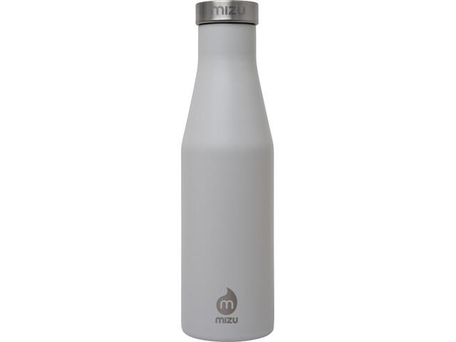 MIZU S4 Drikkeflaske 400 ml med hætte i rustfrit stål, grå